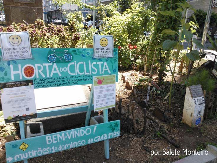 A Horta do Ciclista fica em plena Avenida Paulista