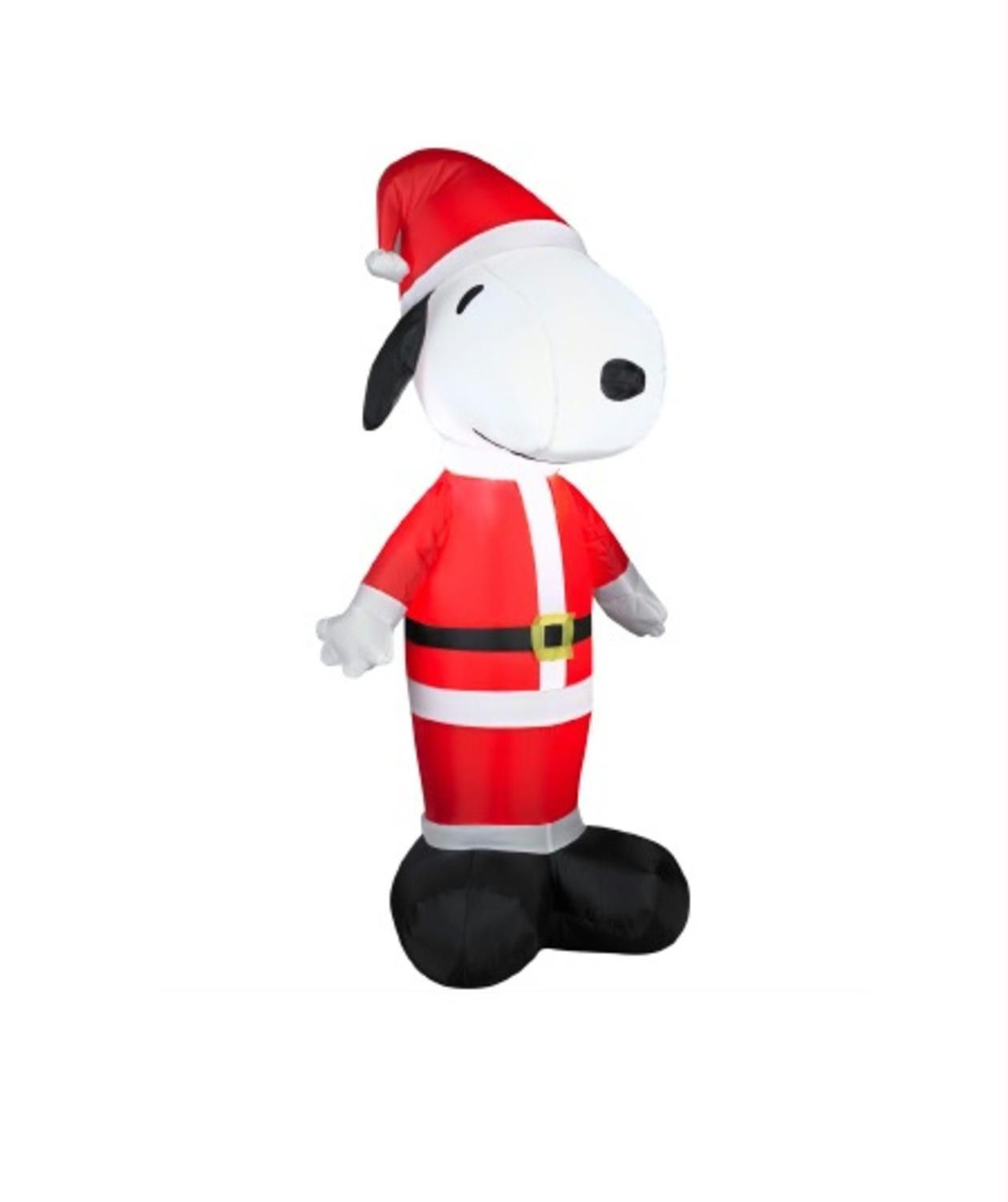 35 inflatable peanuts led lighted snoopy santa claus christmas yard art decoration - Snoopy Blow Up Christmas Decorations