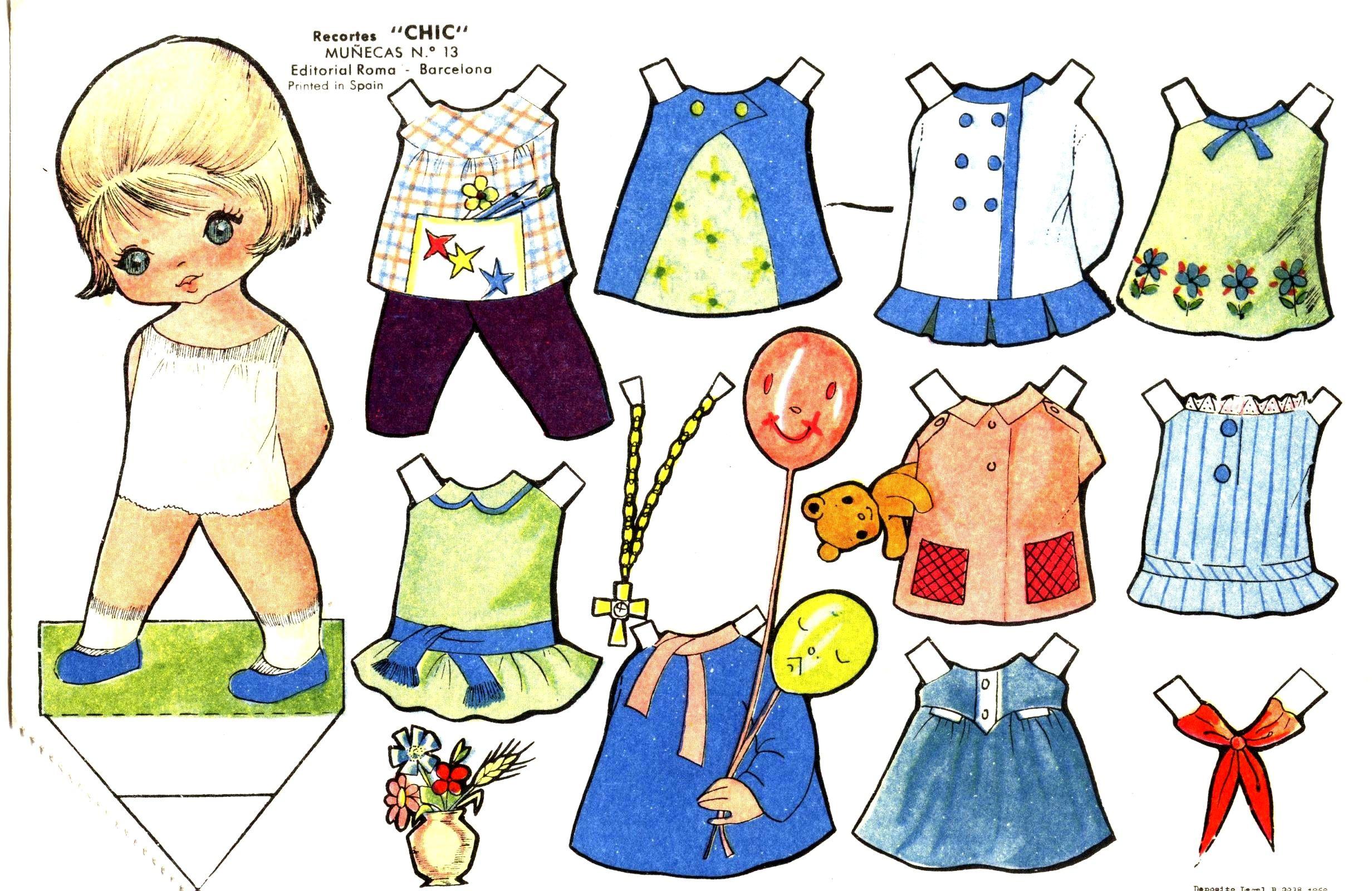 TE CUENTO UN CUENTO: Muñequitas para vestir de papel para imprimir ...