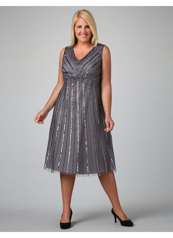 Silver Grey Dresses Plus Size