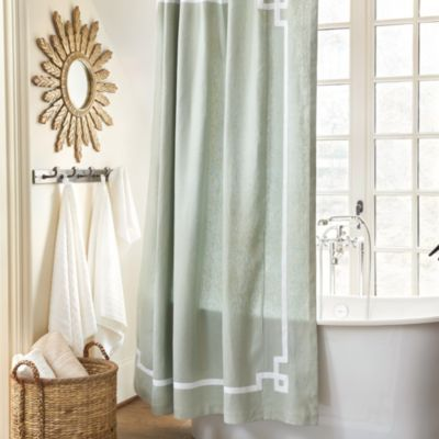 Suzanne Kasler Greek Key Shower Curtain