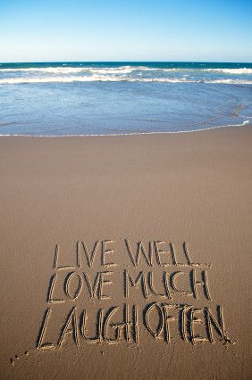 When I M At The Beach I Live Love Laugh Waaaay More Often Beach Quotes Beach Laugh
