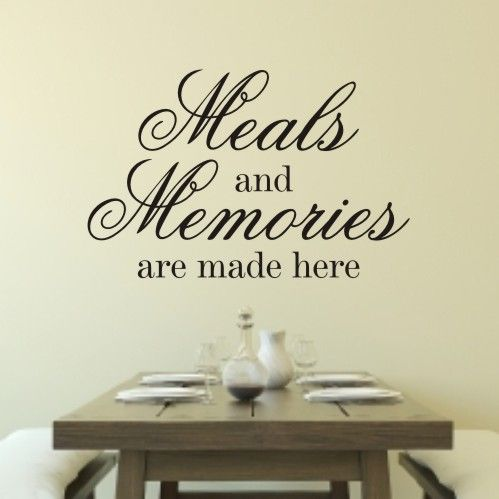 Meals And Memories  Wall Quote Sticker  Wa237X  Decorating Stunning Dining Room Wall Quotes Decorating Design