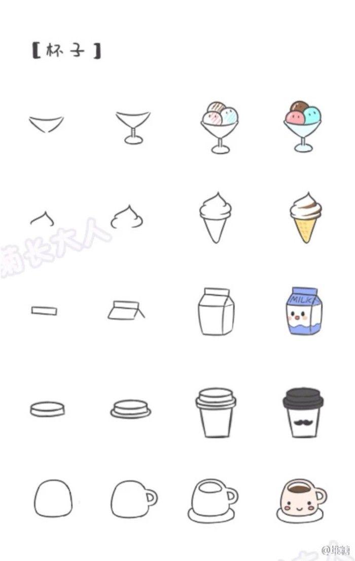 每日一幅简笔画 Doodling Drawings Cute Drawings Doodles