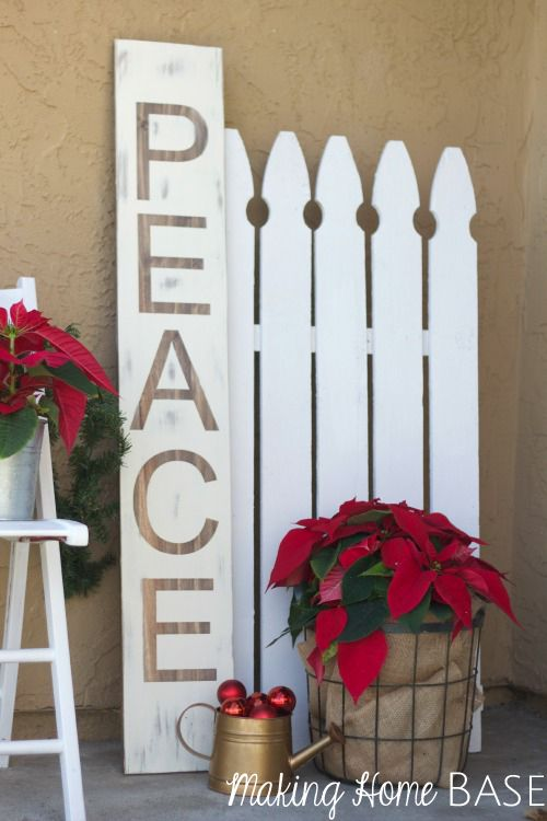 i saved 100 by making my own peace sign after seeing one in a home decor catalog you can make one too with this easy to follow tutorial - Peace Outdoor Christmas Decorations