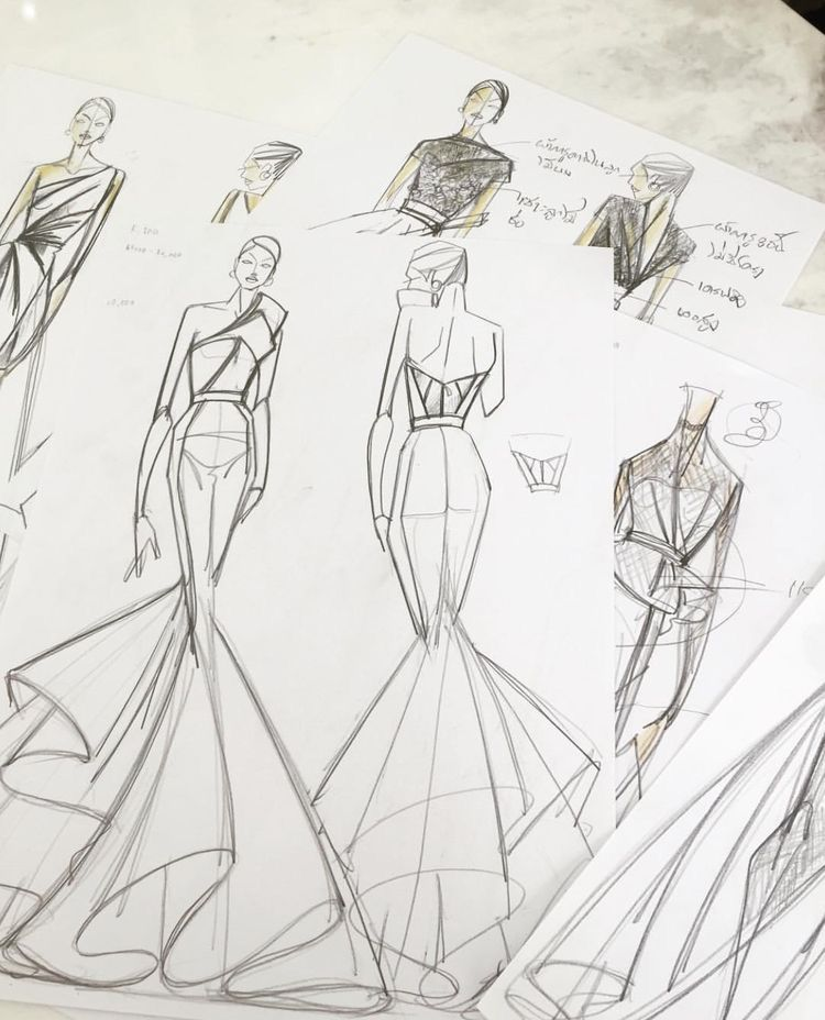 Tutorial su Illustrator | Schizzi di fashion design, Figure