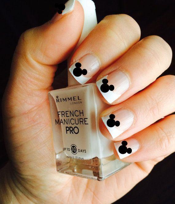 Mickey Mouse Nail Decals | Manicuras | Pinterest | Uñas de colores ...