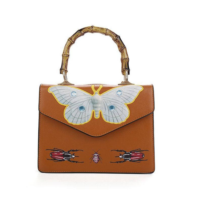 f37464b7fd5 Bamboo Butterfly Embroidery Bag Women Animal Printing Women Leather ...
