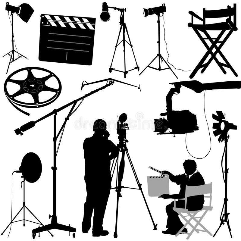 Film Objects And Cameraman Vector Affiliate Objects Film Vector Cameraman Ad Stock Illustration Stock Images Film