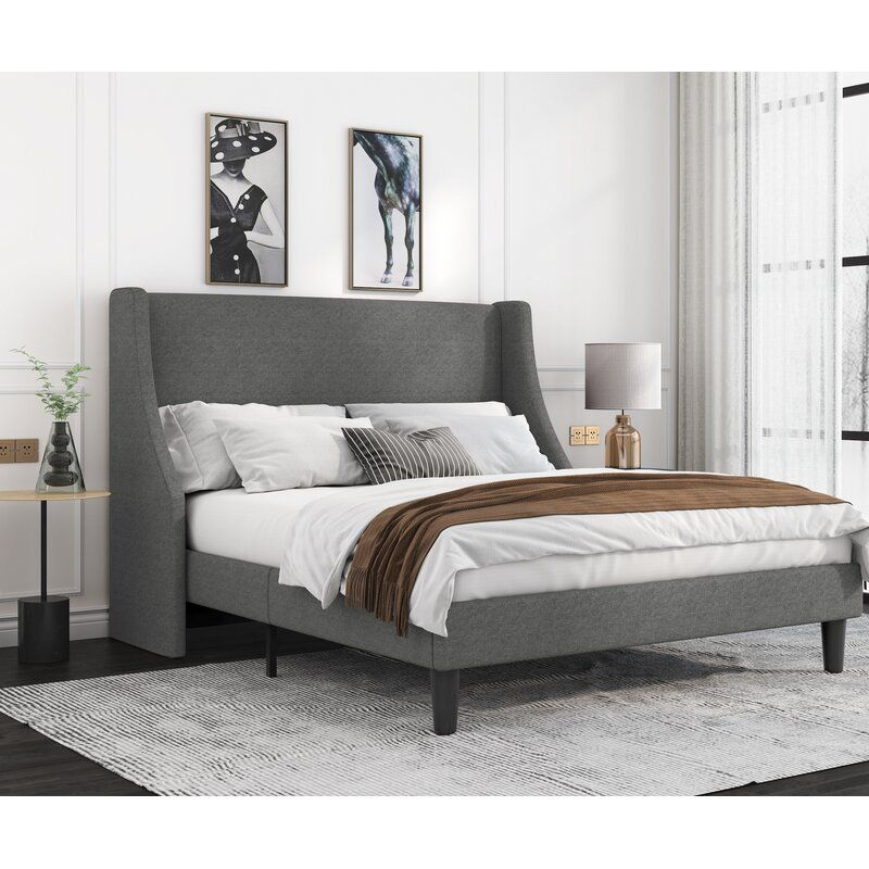 Jeaz Low Profile Platform Bed In 2021 Bed Frame And Headboard Modern Platform Bed Grey Bed Frame Low profile king size bed