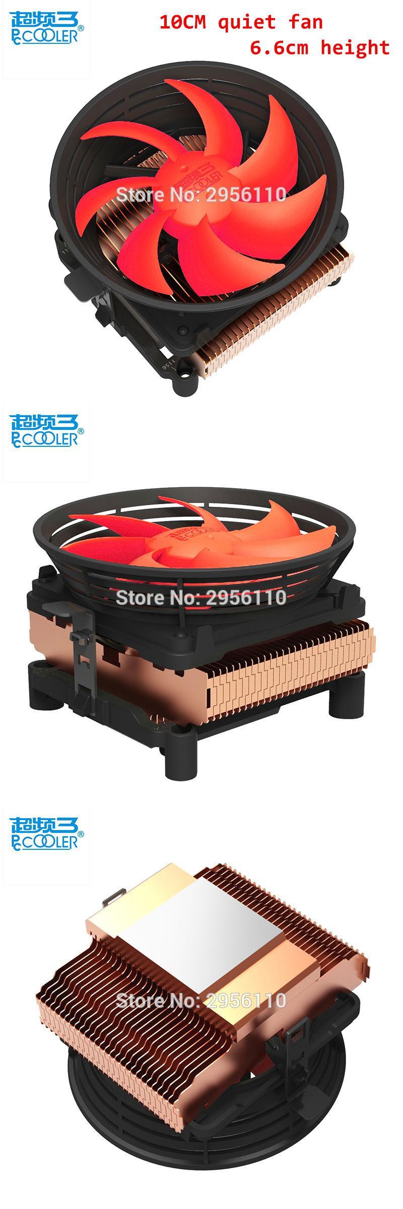 [Visit to Buy] Pccooler cpu cooler 10cm quiet 4pin PWM fan