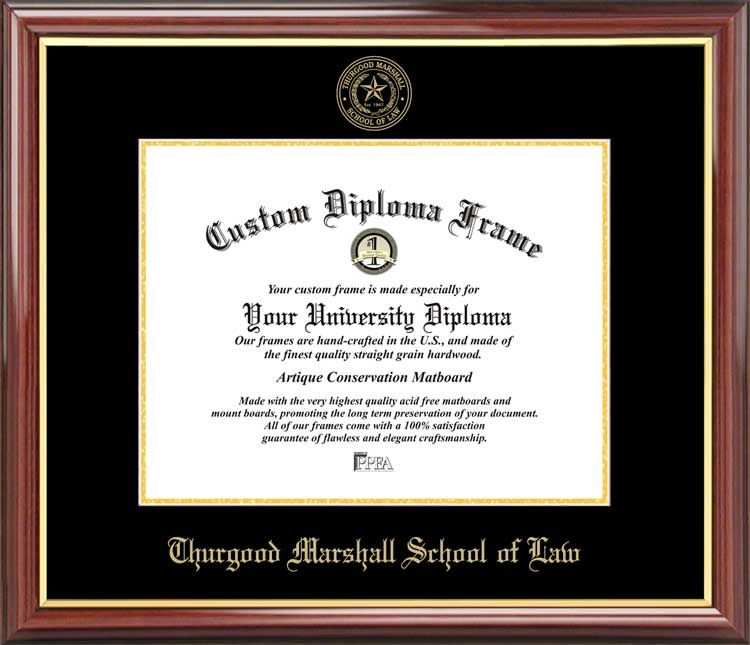 Thurgood Marshall School of Law Diploma Frame - Embossed Seal ...