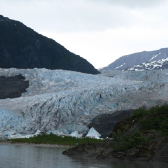 Mendenhall Glacier near Juneau, AK