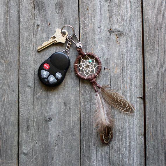 dream catcher keychain leather dreamcatcher purse charm bohemian small dream catcher. Black Bedroom Furniture Sets. Home Design Ideas