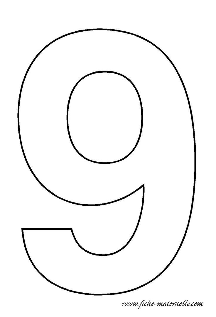 number 9 cake template - number 9 template crafts and worksheets for preschool
