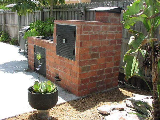Backyard Brick Barbeques | stoves, grills, smokers | Brick bbq
