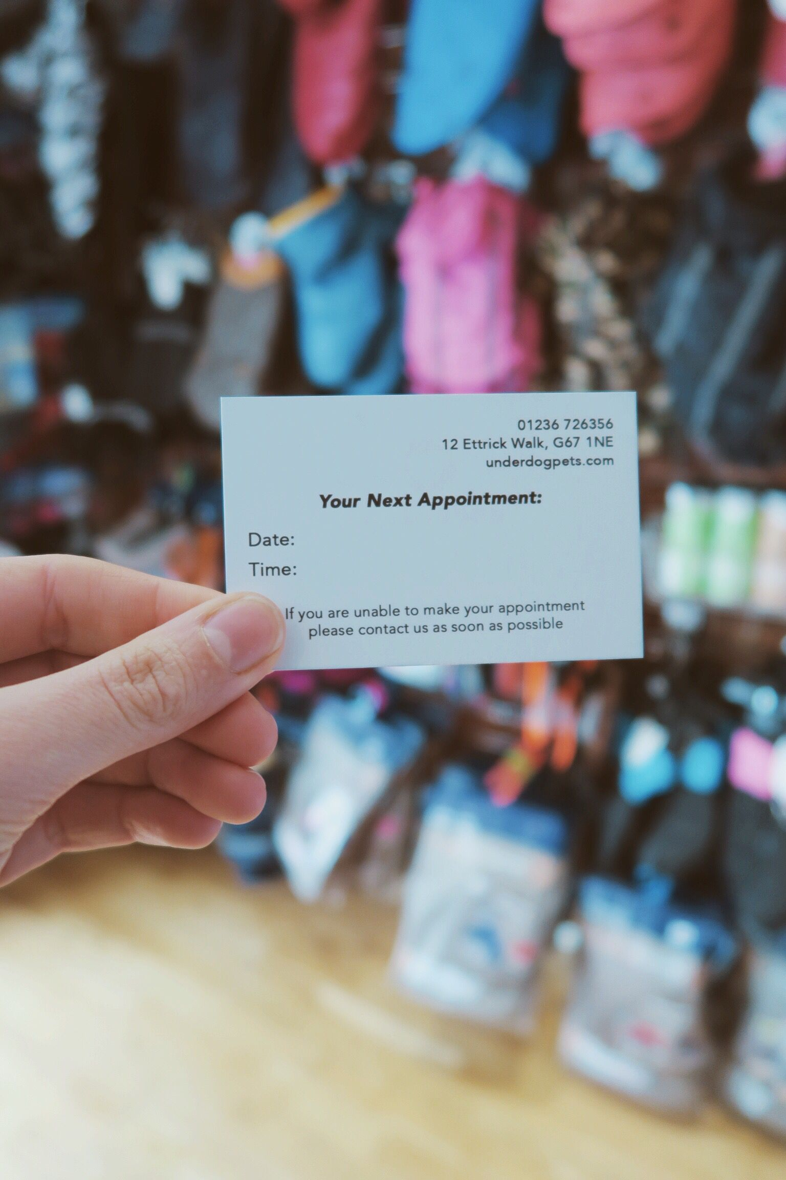 Dog Grooming Appointment Card Underdog Pets Dog Grooming Grooming Appointment Cards