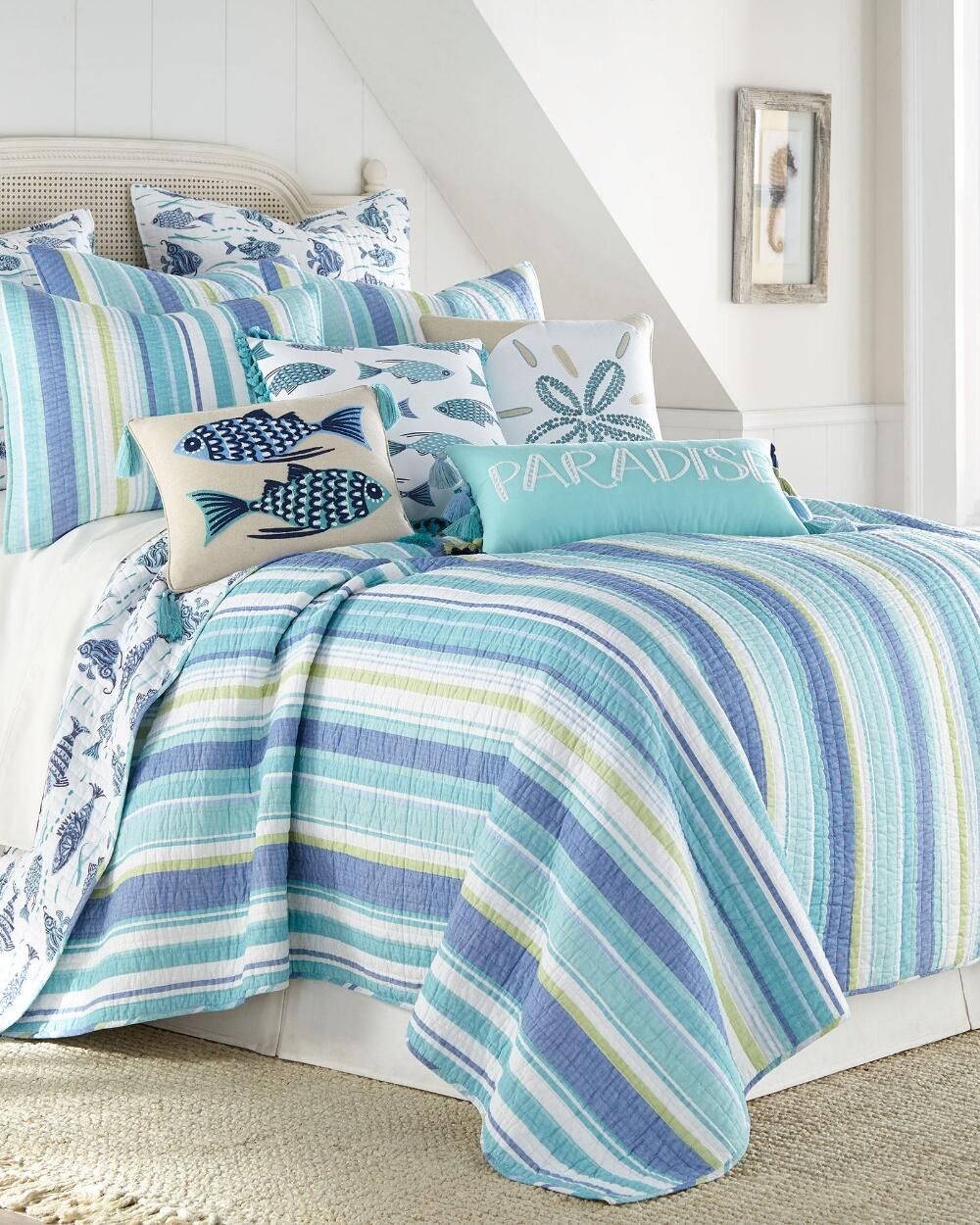 Avila Beach Standard Sham Coastal Bedrooms Home Decor Beach