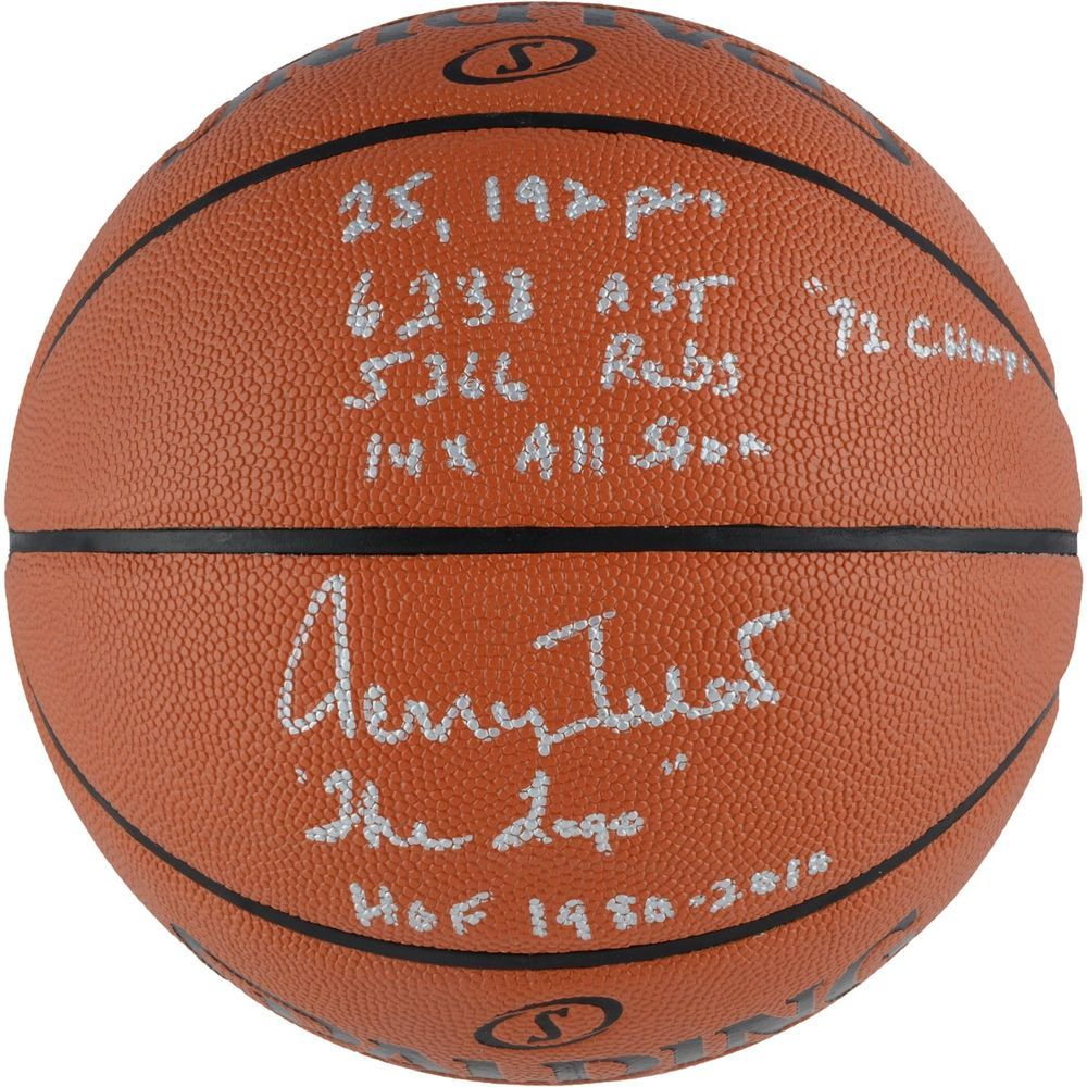 Jerry West Los Angeles Lakers Autographed Basketball