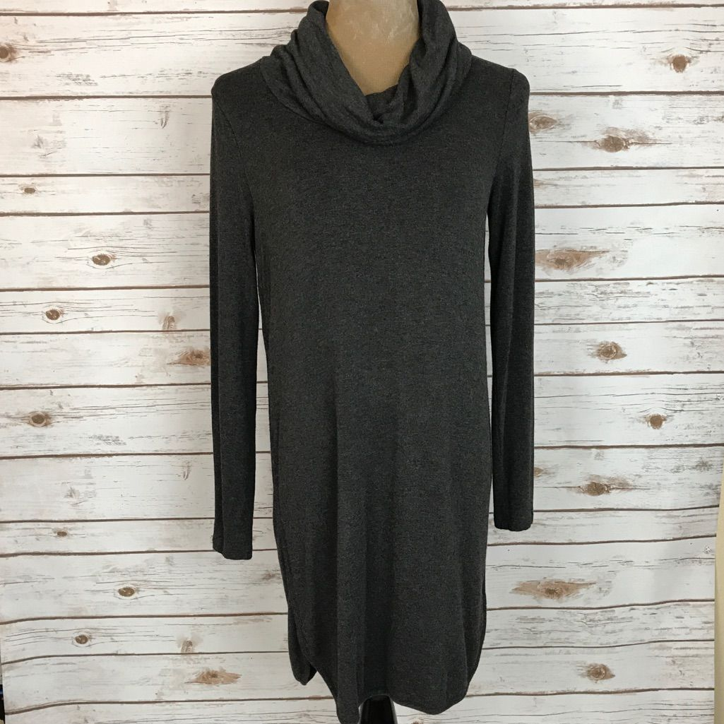 Ann taylor loft lou u grey cowl neck shirt dress products