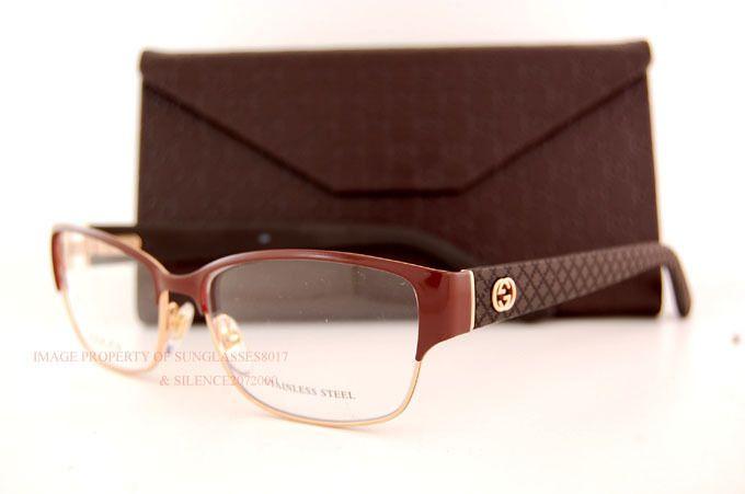 3fd7a8266e8 Brand New GUCCI Eyeglass Frames 4264 LQI 0LQI Copper Gold Women 100%  Authentic  Gucci  EyeglassFrames