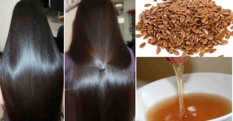 بذور الكتان لتكثيف الشعر