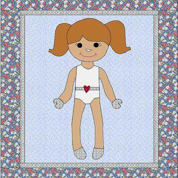 Morgan Dress Up Doll Quilt - Paper Doll Pattern - Quilt Pattern - Doll Blanket - Dress Up Blanket - Girl Quilt - Blanket Pattern - Dress Up