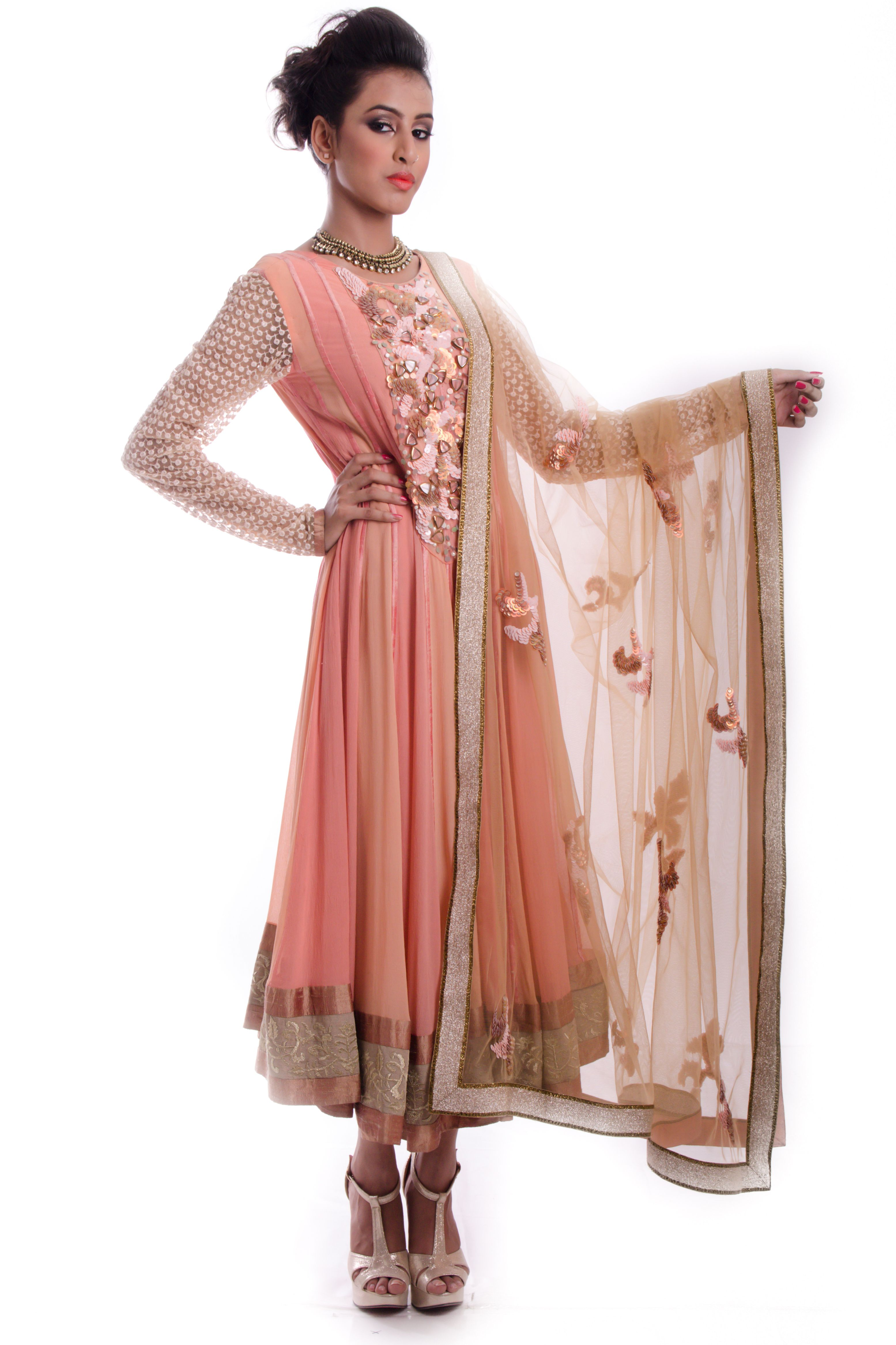 #glitstreet #designer #indian #designerwear #couture #festive #diwali #elegant #weheartit #shopnow  http://www.glitstreet.com/product/pink-suit-with-heavy-chunni-1600-AD-shahpur-jat-3177