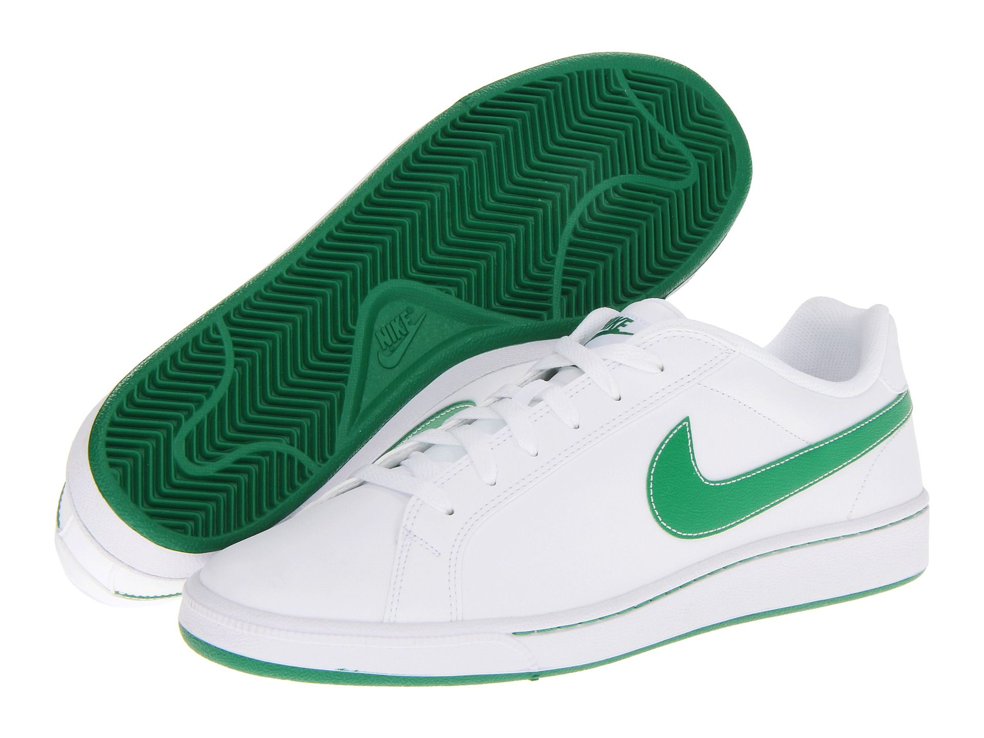 Nike Court Majestic Leather White Pine Green Pine Green, Nike, Shoes, White
