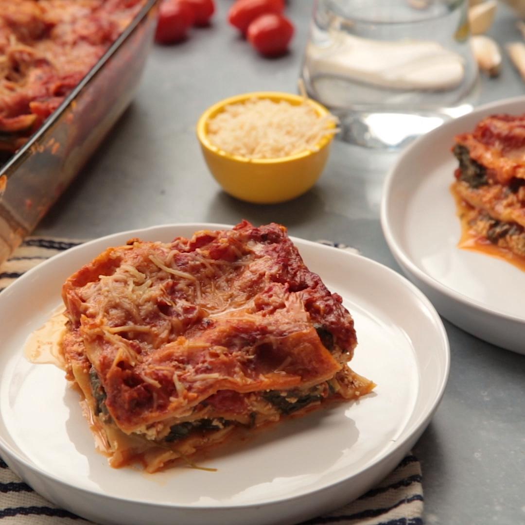 Vegan Spinach Lasagna #dinnerideas