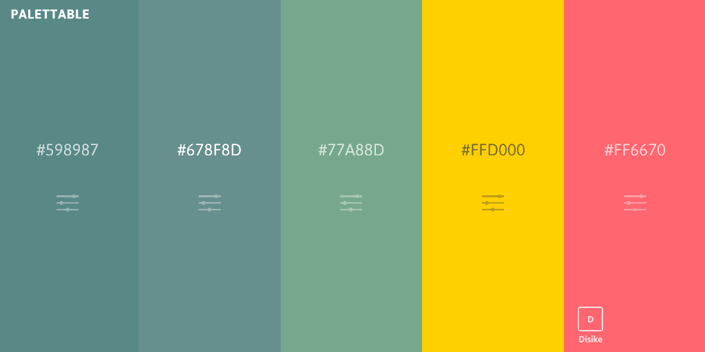 Generate beautiful color palettes with no prior design knowledge.