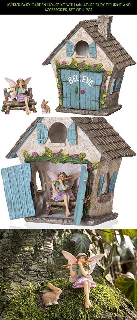 Joykick Fairy Garden House Kit With Miniature Fairy Figurine And