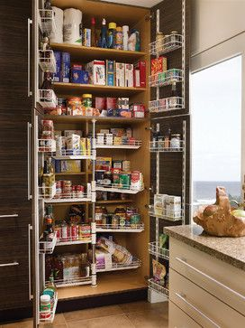 Tall Chef S Pantry Contemporary Kitchen Pantry Design Kitchen Cabinet Storage Contemporary Kitchen