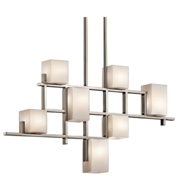 Kichler Lighting City Lights Contemporary Linear Chandelier 7 Halogen Lights