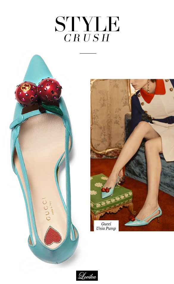 Style Crush: Gucci Cherry-on-Top Pumps