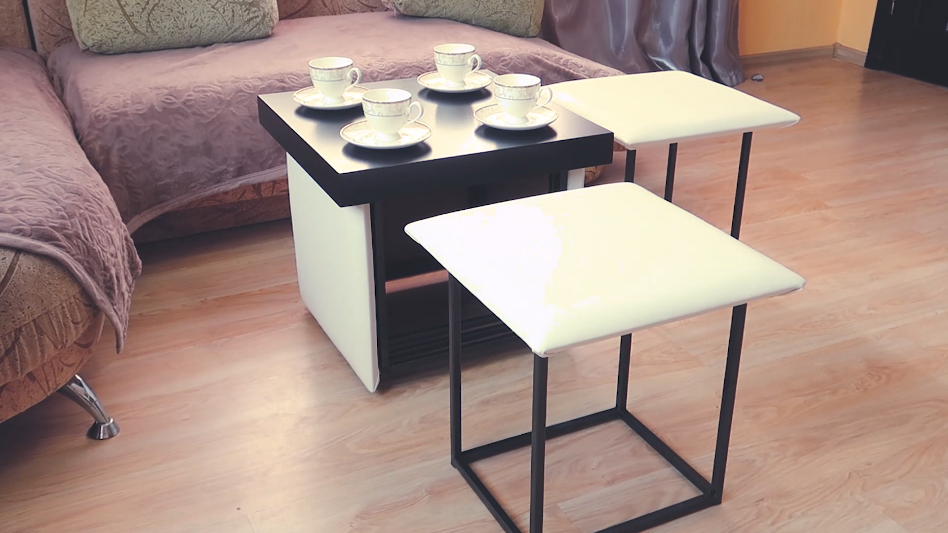 Cube 6 in 1 transformer ottomancoffee table or 5 chair   Etsy