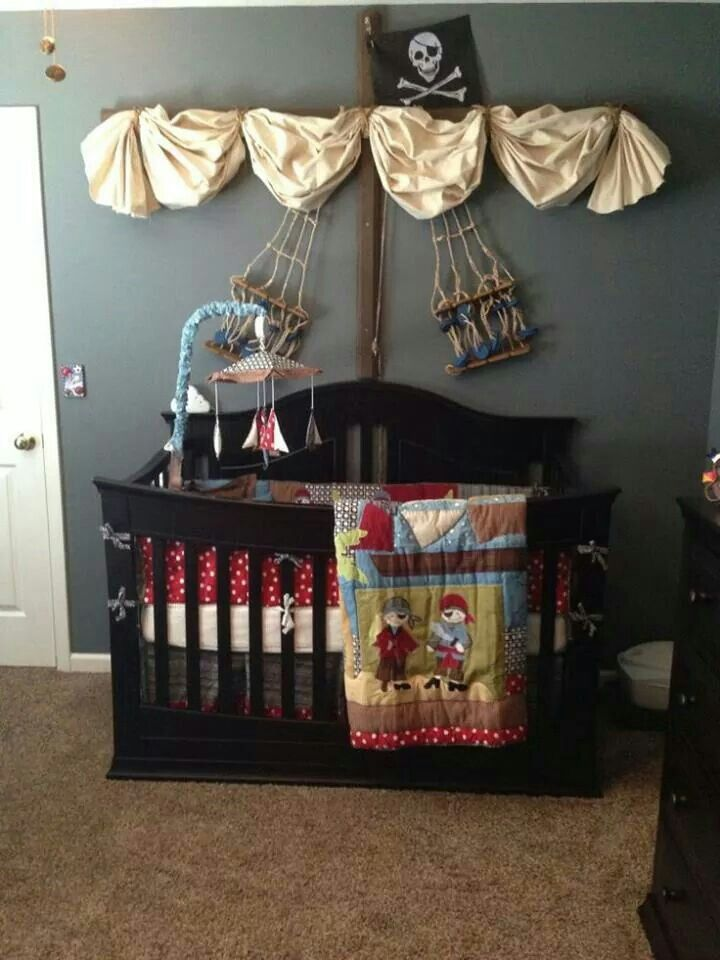 Project nursery pirate decor how adorable for  baby boy also room pinterest rh