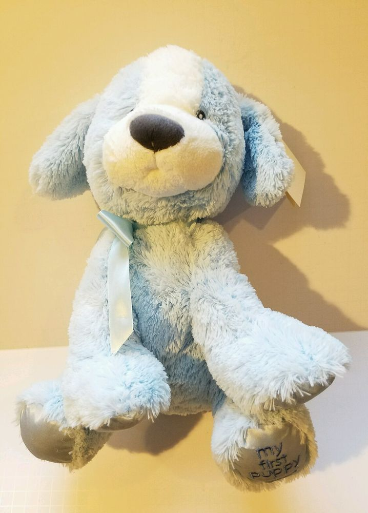 Blue Dog Gund My First Puppy Baby Plush Stuffed Animal Soft Fuzzy