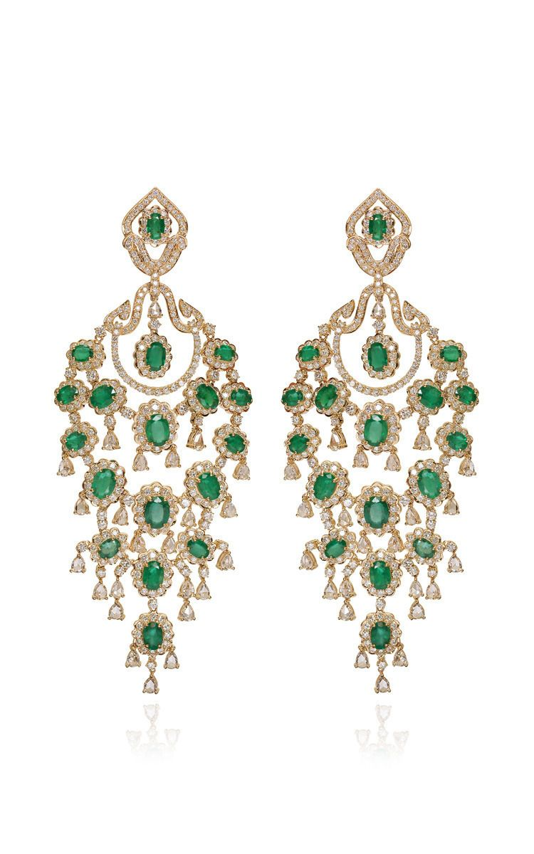 Emerald and yellow gold chandelier earrings by farah khan fine emerald and yellow gold chandelier earrings by farah khan fine jewelry arubaitofo Choice Image