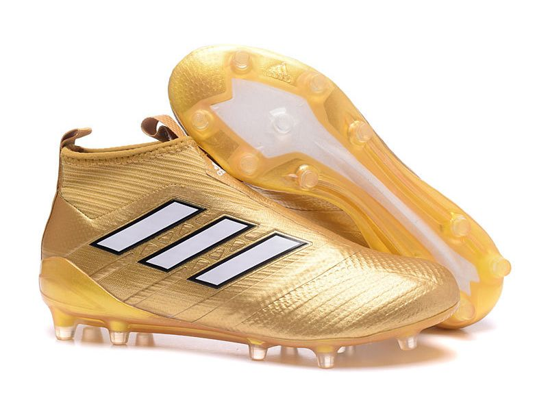 cheap for discount 49a84 80614 Adidas ACE 17+ Purecontrol Firm Ground Gold Soccer Cleats