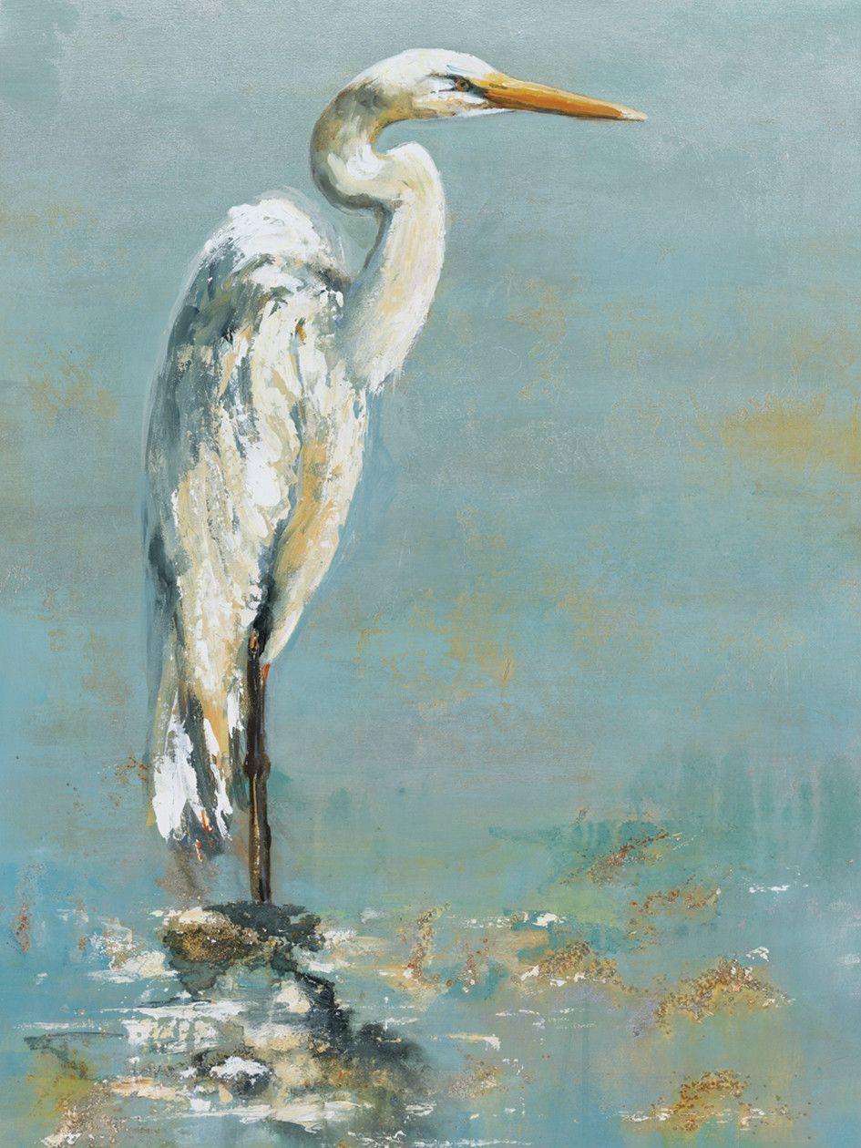 Portfolio Canvas Herons I Painting Print On Wrapped Canvas Canvas Decor Canvas Wall Art Art