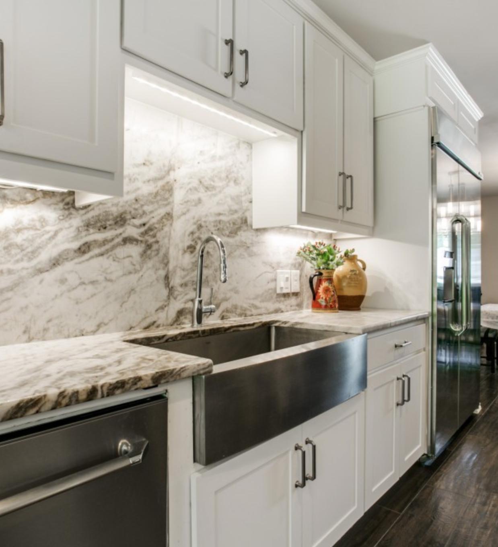 Granite Countertop Backsplash Concept Captivating Example Of Granite Counter And Backsplash Concept Alpinus White . Design Decoration