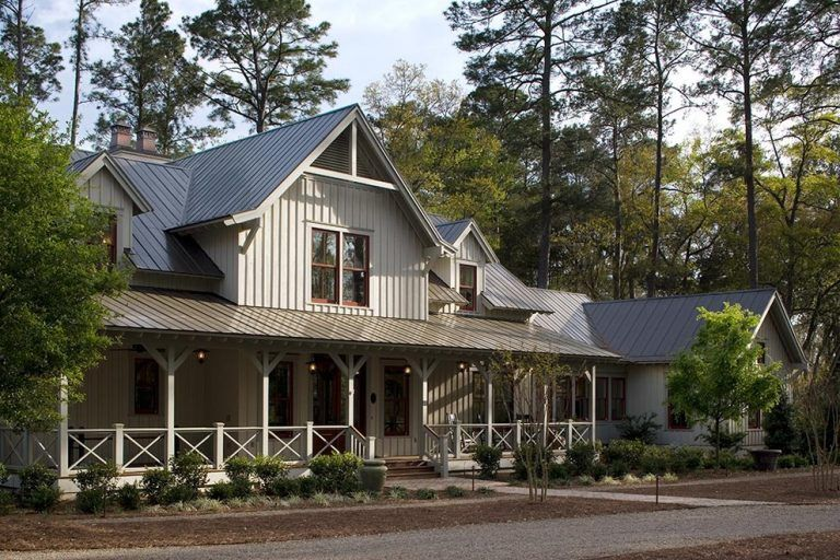 Metal farmhouse exterior tropical with wood siding dormer windows