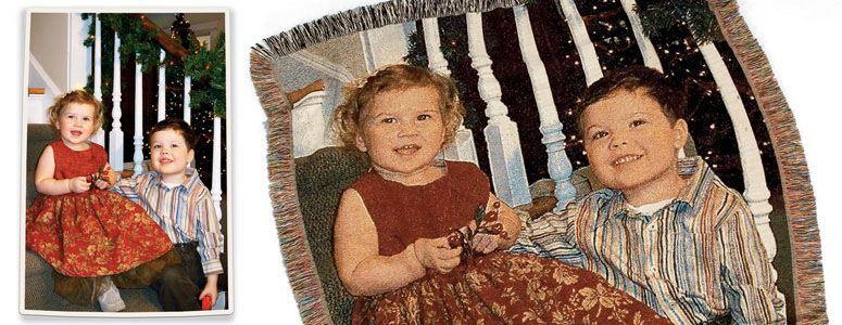 Personalized Woven Photographic Image Throw Photo Blankets Cool Personalized Blanket Throws