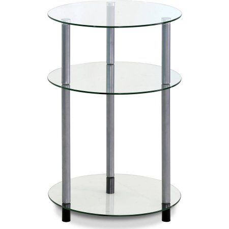 3 Tier Glass Display Entryway Table Round Coffee Table Living Room Entryway Tables Entryway Console Table