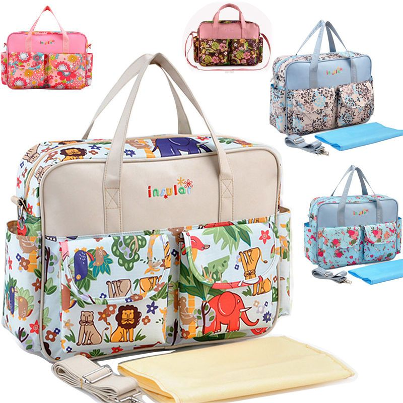 Diaper Changing Maternity Hearts Multi Function Mummy Package Bag Nappy Diaper