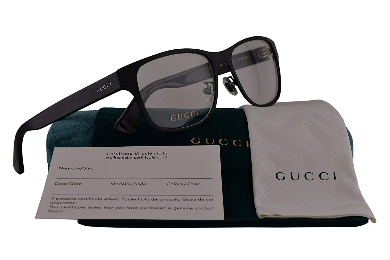 868bee1a535 Gucci GG0007O Eyeglasses 55-16-145 Matte Black 001 GG 0007O ...