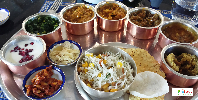 Thali With Traditional Rajasthani Indian Food In Udaipur