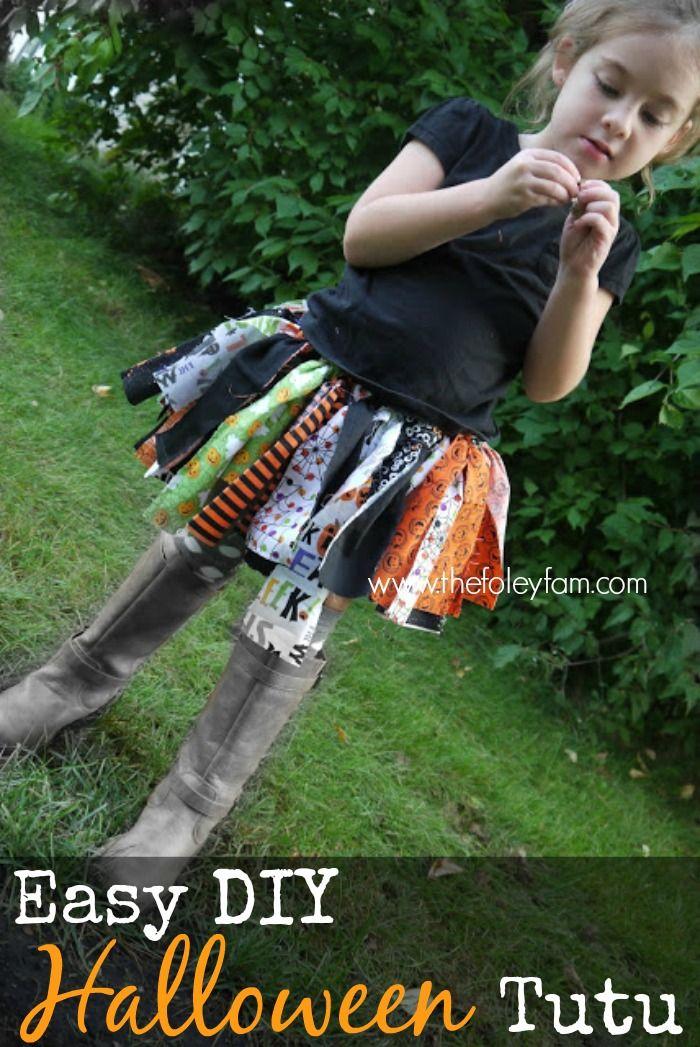 Easy DIY Halloween Tutu Tutorial #thefoleyfamblog