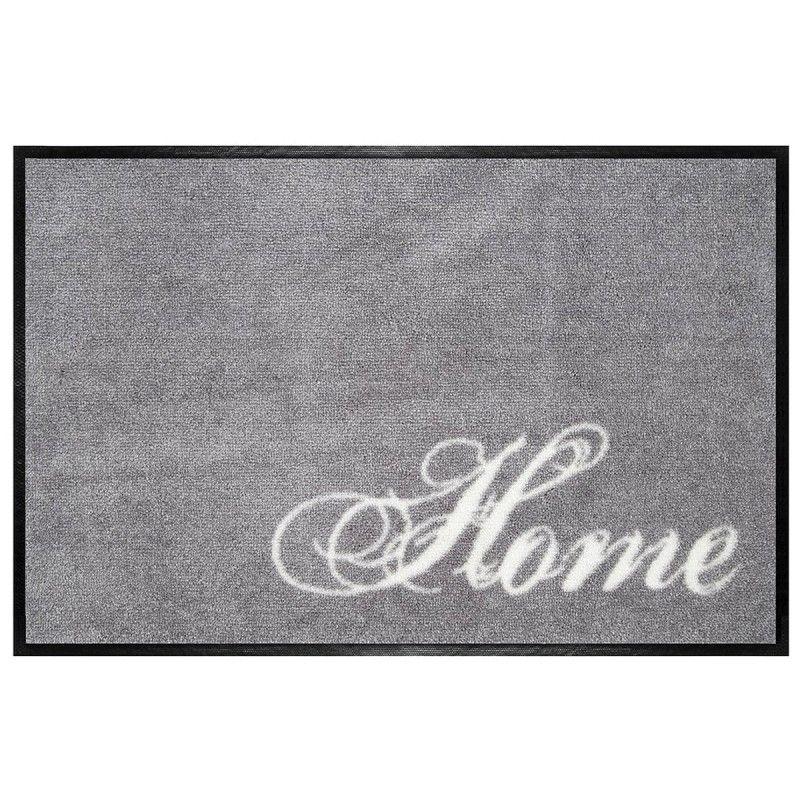 Fußmatte waschbar Home grau